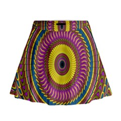 Ornament Mandala Mini Flare Skirt