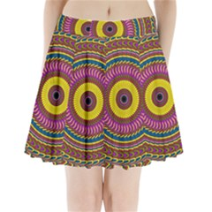 Ornament Mandala Pleated Mini Skirt