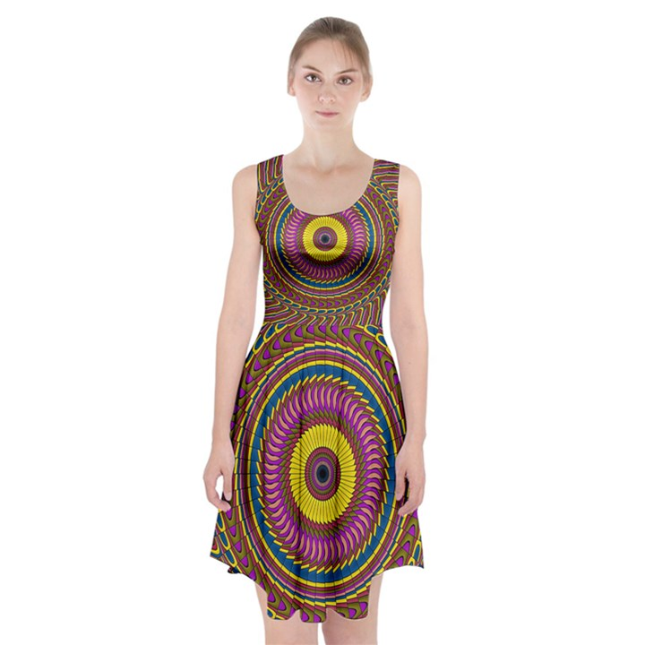 Ornament Mandala Racerback Midi Dress