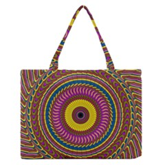 Ornament Mandala Medium Zipper Tote Bag