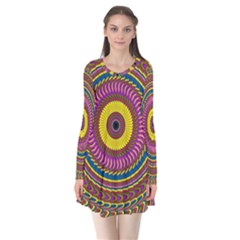 Ornament Mandala Flare Dress