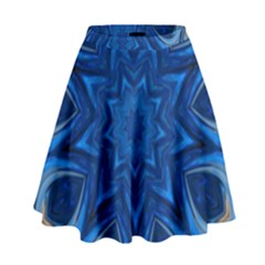 Blue Blossom Mandala High Waist Skirt