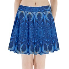 Blue Blossom Mandala Pleated Mini Skirt