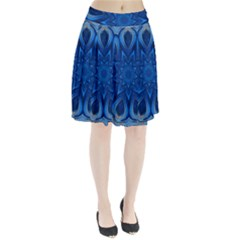 Blue Blossom Mandala Pleated Skirt