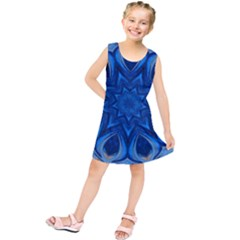 Blue Blossom Mandala Kids  Tunic Dress