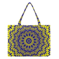 Yellow Blue Gold Mandala Medium Tote Bag