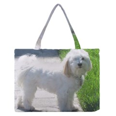 Havanese Full second Medium Zipper Tote Bag