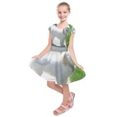 Havanese Full second Kids  Short Sleeve Dress