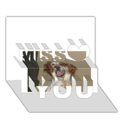 Irish Red And White Setter Miss You 3D Greeting Card (7x5)
