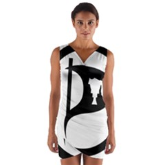 Pirate Party Of Iceland Logo Wrap Front Bodycon Dress