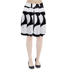 Pirate Party Of Iceland Logo Pleated Skirt