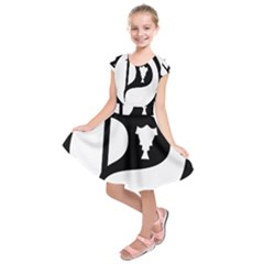 Pirate Party of Iceland Logo Kids  Short Sleeve Dress