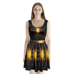 Star Christmas Advent Decoration Split Back Mini Dress