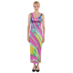 Star Christmas Pattern Texture  Fitted Maxi Dress
