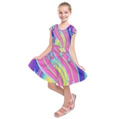Star Christmas Pattern Texture  Kids  Short Sleeve Dress