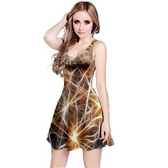 Star Golden Christmas Connection Reversible Sleeveless Dress
