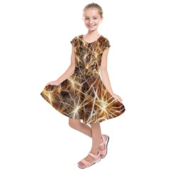 Star Golden Christmas Connection Kids  Short Sleeve Dress