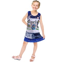 Winter Snow Ball Snow Cold Fun     Kids  Tunic Dress