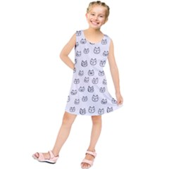Sketchy Cats Kids  Tunic Dress
