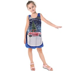 Winter Snow Ball Snow Cold Fun  Kids  Sleeveless Dress