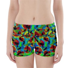 Colorful Smoothie  Boyleg Bikini Wrap Bottoms