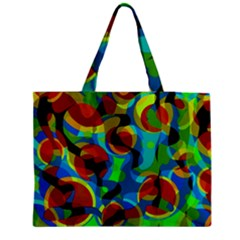 Colorful Smoothie  Medium Zipper Tote Bag