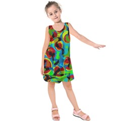 Colorful Smoothie  Kids  Sleeveless Dress