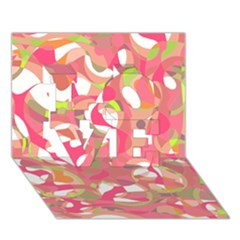 Pink Smoothie  Love 3d Greeting Card (7x5)