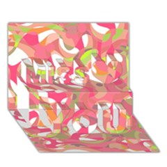 Pink smoothie  Miss You 3D Greeting Card (7x5)