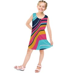 Bent Waves           Kid s Tunic Dress
