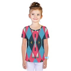 Triangles Stripes And Other Shapes                               Kids  One Piece Tee