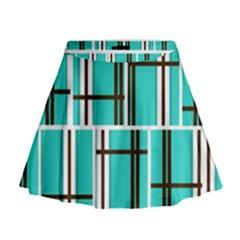 Black And White Stripes                                                                                                            Mini Flare Skirt
