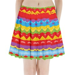Colorful Waves                                     Pleated Mini Mesh Skirt