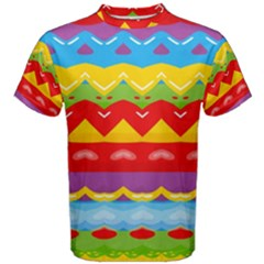 Colorful Waves                                                                                                           Men s Cotton Tee