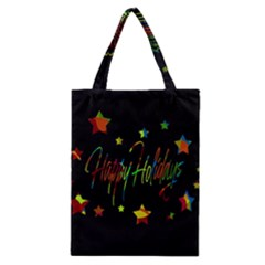 Happy Holidays Classic Tote Bag