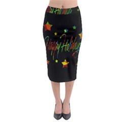Happy holidays Midi Pencil Skirt