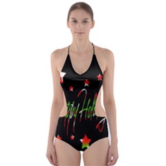 Happy Holidays 2  Cut-Out One Piece Swimsuit