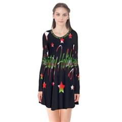 Happy Holidays 2  Flare Dress