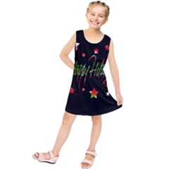 Happy Holidays 2  Kids  Tunic Dress