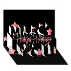 Happy Holidays 3 Miss You 3d Greeting Card (7x5)