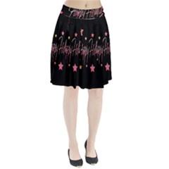 Happy Holidays 3 Pleated Skirt