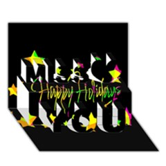 Happy Holidays 4 Miss You 3d Greeting Card (7x5)