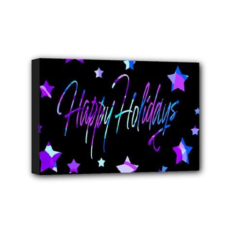 Happy Holidays 6 Mini Canvas 6  x 4