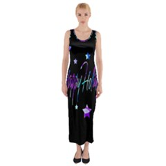 Happy Holidays 6 Fitted Maxi Dress