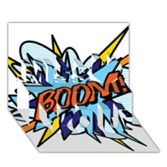 Comic Book Boom! Miss You 3d Greeting Card (7x5)
