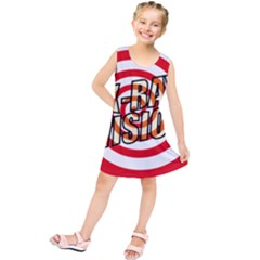 Comic Book X Ray Vision Red Spiral Kids  Tunic Dress