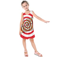 Comic Book X Ray Vision Red Spiral Kids  Sleeveless Dress