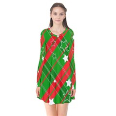 Background Abstract star Christmas Flare Dress