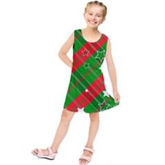 Background Abstract star Christmas Kids  Tunic Dress