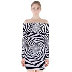 Puzzled Long Sleeve Off Shoulder Dress